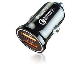 Dual USB Car Charger Adapter Fast Charging 36W