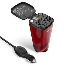 BESTEK 200W Car Power Inverter with 2 AC Outlets and 4.5A Dual USB Charging Port