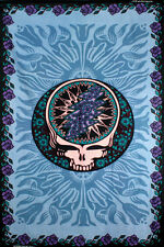 GRATEFUL DEAD-SYF BLUE ROSE TAPESTRY-60 X 90-Wallhanging,LOOPS