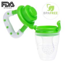 Infant Baby Teether Food Fruit Feeder Safety Silicone Pacifier Soft Nipple Tool