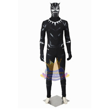 Custom Made T'Challa Black Panther Cosplay Costume Mask Marvel 2018 Movie