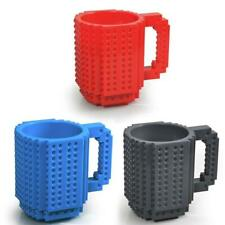 Build-On Brick Mug for LEGOTM, Pixel Blocks, Mega Blokes, KRE-O, K'NEX Bricks