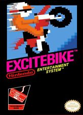Retro Excite Bike Game Poster//NES Game Poster//Video Game Poster//Vintage Game