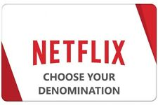 Netflix Gift Card   $25 to $100   Fast Delivery