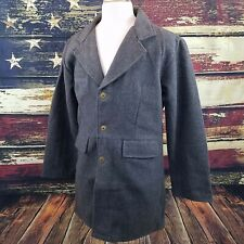 Wyoming Traders Mens 100% Wool Cowboy Western Frock Coat - CHARCOAL