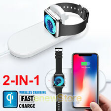 Qi Wireless Charger Charging Pad Charge Station for Apple iWatch 2 3 4 iPhone XR