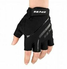Bicycle Bike Half Finger Cycling Gloves MTB Fingerless Sport Cycling Mitts Black