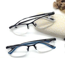 Retro Half Rimless Reading Glasses Business Readers Mens Womens 1.0 ~ 4.0 KFA501