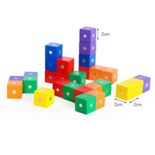 Wooden Building Blocks Cube Shape Color Learning Toys for Children Kids