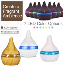 300ml Ultrasonic Humidifier USB Essential oil Diffuser with LED Light Aroma Air