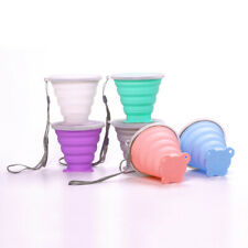 Portable Silicone Telescopic Drinking Cup Collapsible Folding Cup for Home Offic