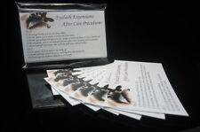 Eyelash Extension Lash After Care Instruction Card