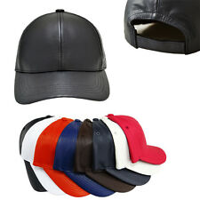 NEW UNISEX GENUINE BASEBALL LEATHER CAP HAT Any Colors