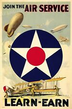 1917 Join the Air Service! WWI Army Air Corp Poster - 16x24