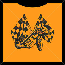 CHEQUERED FLAG SPEEDWAY RIDER, Crew-Neck T-SHIRT Fruit of the Loom CSTS055