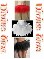 Short Net Petticoat Black Red or White Underskirt
