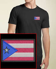Puerto Rican Flag EMBROIDERED Black Puerto Rico T-Shirt