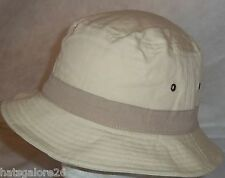 BUCKET HAT HEAVY DUTY COTTON CANVAS, COLOUR BAND 56-59