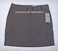 SONOMA LIFE & STYLE - SKIRT & MATCHING BUCKLED BELT – BROWN – SIZE 14 - NWT $34