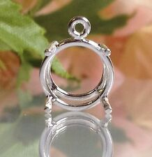 Sterling Silver Round Pre-Notched Wire Dangle Casting