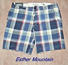Abercrombie & Fitch ESTHER MOUNTAIN Mens Plaid Shorts