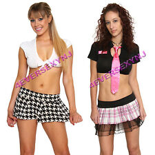 Sexy Naughty School Girl Costume Exotic Dancer Stripper