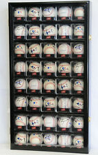40 Arcylic Cubes Baseball Cabinet Wall Display Case UV