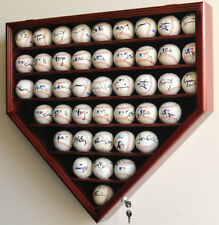 43 Baseball HP Shaped Display Case Wall Rack Cabinet UV