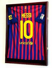 Soccer World Cup Jersey Display Case Cabinet Wall Rack