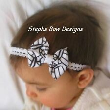 VOLLEYBALL  DAINTY HAIR BOW LACE HEADBAND U PICK COLORS