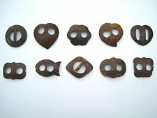 Handmade Coconut Shell Sarong / Pareo Buckle / Fastener / Clip / Tie. 9 Shapes.