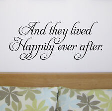 Wall Quote | Wall Sticker | Wall Art - Happily ever after WA291X