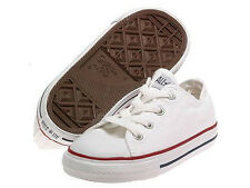 NEW INFANT CONVERSE ALL STAR OX CHUCK TAYLOR OPTICAL WHITE 7Q490 ORG SO CUTE