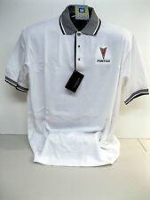 GM LICENSED NEW PONTIAC ARROW HEAD WHITE/BLACK POLO SHIRTS