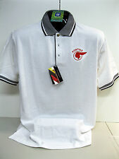 GM LICENSED NEW PONTIAC INDIAN CHIEF  WHITE/BLACK POLO SHIRTS