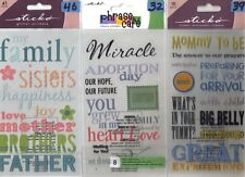 STICKO PHRASE CAFE Assorted STICKERS Choice Scrapbooking LABEL LINGO Family&more