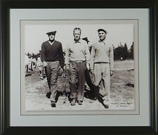 Ben Hogan, Keiser, & Craig Wood 1938 Masters Framed Golf Photo 11 x 14