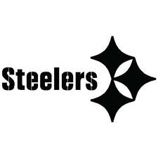 """Pittsburgh Steelers Vinyl Sticker Decal Wall or Window - 4"""" to 24"""" - Many Colors"""