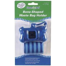 Clean Go Pet Dog Waste Bag Holders With Roll of Bags and Clip - Bone Shaped