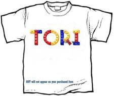 T-shirt - Your Name in -- LEGGOS, blue, red, yellow