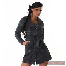 NEW SEXY HOT SIZE 8 10 12 14 WOMENS LADIES JACKET HOODED COAT OUTERWEAR GREY