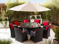 RATTAN DINING SET OUTDOOR PATIO TABLE GARDEN FURNITURE