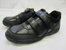 Boys Startrite Rhino School Shoes In Black Leather 'Crater' F, G & H Fittings