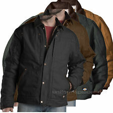 Dickies Jacket Mens Sanded Duck Sherpa Lined Jackets TJ545 Brown, Black, Olive