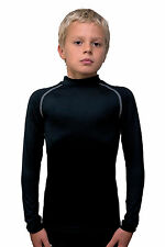 Rhino Junior Base Layer Power Shirt - Boys Sizes - 12 Colours Rugby Sports L/S