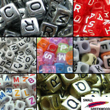 (U Pick)500 Pcs. 6 x 6mm Mixed & Individual Alphabet Letter Cube Acrylic Beads