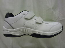 Mens Hi-Tec Twin Strap Trainer, Coated Leather/Synthetic, White/Navy, Legend 2