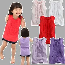 "NWT Vaenait Baby Toddler Kid's 5 Colors Sleeeless T-Shirts Dress ""The Princess"""
