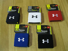 """Under Armour 3"""" Wristbands - Five Different Colors - NEW PACKAGE!!!"""