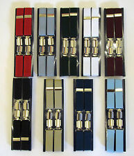 MEN'S PLAIN BOXED TROUSER  BRACES WIDTH 25MM - ONE SIZE - VARIOUS COLOURWAYS